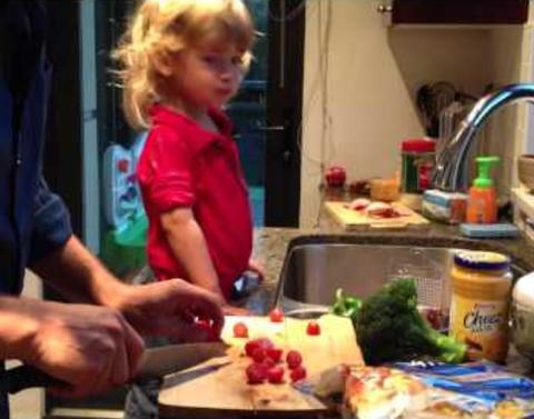 Supernatural star takes hilarious cooking advice from son