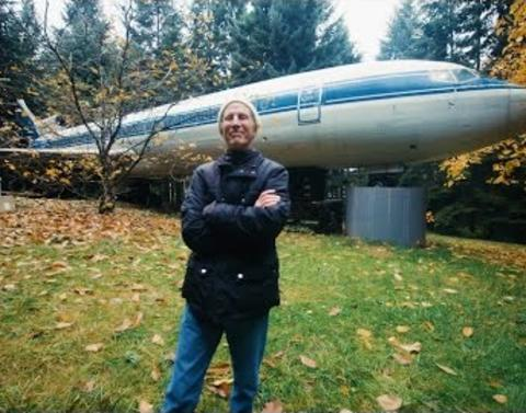 This guy actually lives in an airplane
