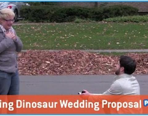 Dinosaur themed proposal will blow your mind