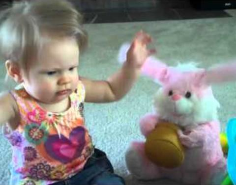 Baby vs easter bunny dance competitionwho wins
