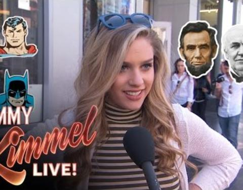Jimmy kimmel live asks avengers or presidents