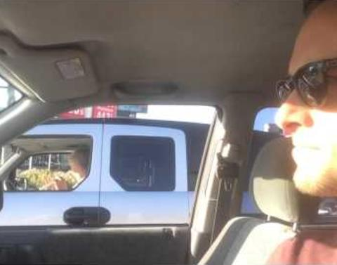 Los angeles man figures out way to enjoy traffic