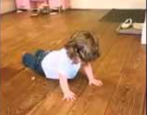 Toddler is the master of burpees
