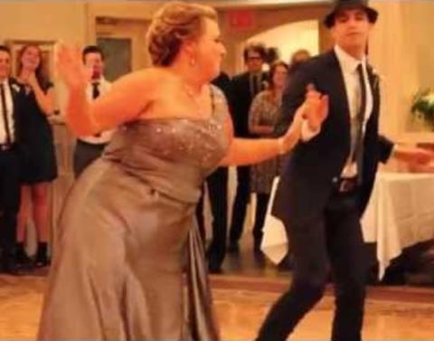 Mother and groom shock wedding audience when they do this
