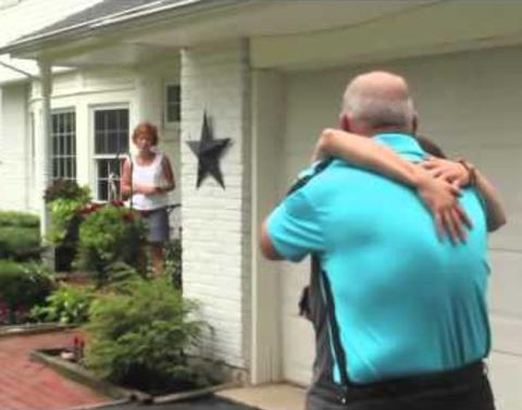 Daughter surprises stepdad with best fathers day gift ever