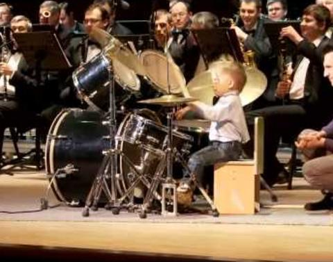 This three year old drummer is amazing