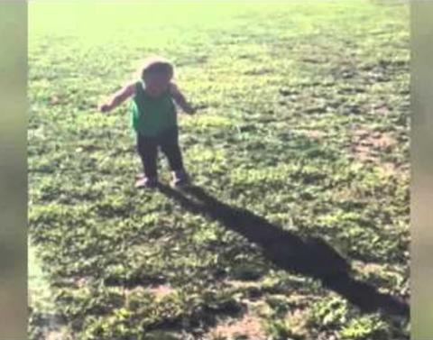 Toddler is terrified of her own shadow
