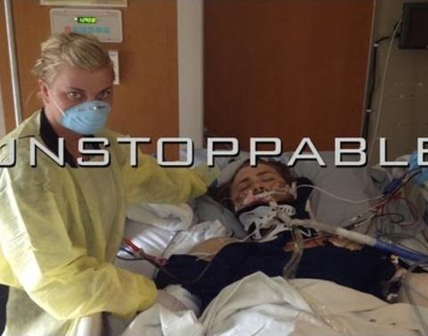 Watch this inspiring story of a quadruple amputees recovery
