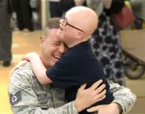 Military dads big surprise will melt your heart