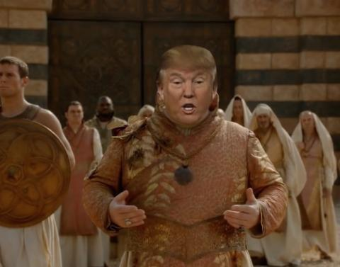 Donald trump meets game of thrones squares off against daenerys