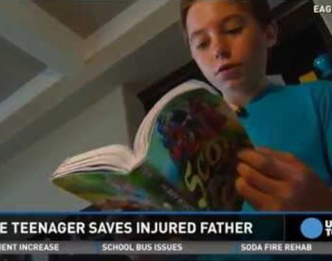 Heroic son hikes 13 miles by himself saves injured father
