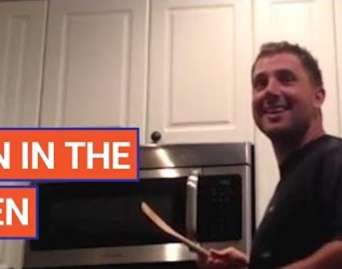 Husband learns theres a bun in the oven