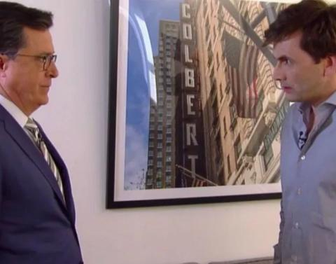Stephen colbert plays dr whos on first with david tennant