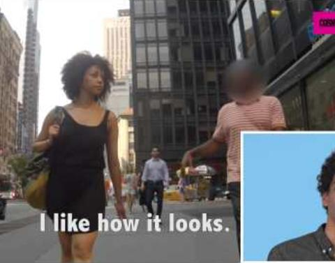 Men watch girlfriends get hit on are not huge fans