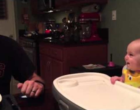 Baby has best laugh finds asparagus hysterical