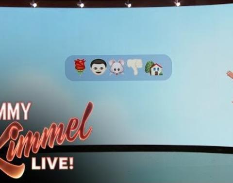 Jimmy kimmel recaps the bachelor dot dot dot via emoji