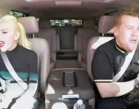 Gwen stefani and surprise guests join james corden for carpool k