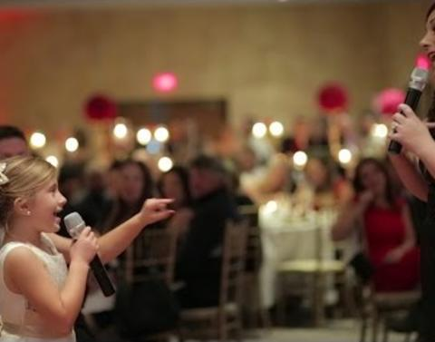 Flower girl sings love is an open door forever wins the internet