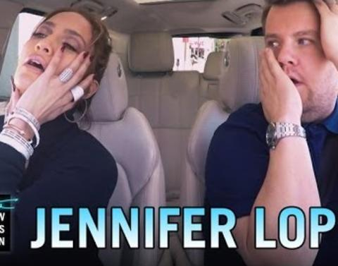 Jennifer lopez sings carpool karaoke with james corden
