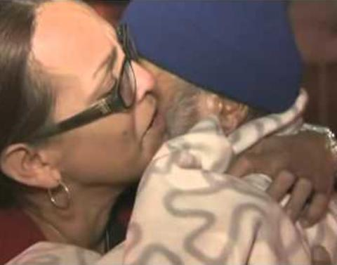 Homeless reunites with family after forty years apart